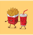 friends forever fries and cola vector image