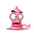 funny cute crazy condom devil vector image