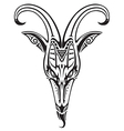 Goat head on white vector image