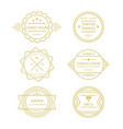golden circle line vintage retro badges on white vector image