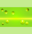 green the view from the top 3d render realistic vector image vector image