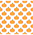 halloween pumpkin pattern on white background vector image