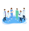 isometric concept thank you doctors and nurses vector image vector image