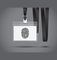 lanyard with a finger print vector image