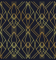 luxury art deco gold black seamless pattern vector image vector image