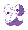 mask funny mustache vector image vector image