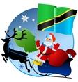 Merry Christmas Tanzania vector image vector image