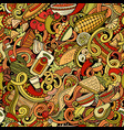 mexican food hand drawn doodles seamless pattern vector image vector image