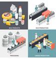milk factory 2x2 design concept vector image vector image