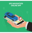 Mobile GPS navigation travel and tourism concept vector image