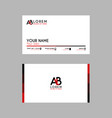 modern creative business card template with ab vector image vector image
