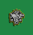 montego bay jamaica hand lettering graffiti tag vector image