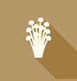 needle mushroom vector image