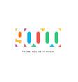 ninety thousand subscribers baner colorful logo vector image vector image