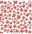 old red phone seamless pattern vector image vector image