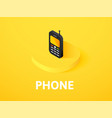 phone isometric icon isolated on color background vector image vector image