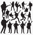 playing guitar silhouettes vector image vector image