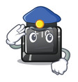 police button f10 in mascot shape vector image
