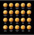 popular crypto coins set - bitcoin ethereum vector image