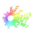 radial sound wave music equalizer dynamic volume vector image vector image