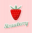 Retro strawberry vector image vector image