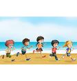 Running children vector image vector image