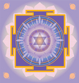 Sacred Geometry saturn yantra vector image vector image