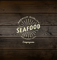 Seafood badges logos and labels for any use vector image vector image