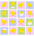 seamless eastern pattern with chickens vector image vector image