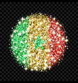 senegal flag sparkling badge vector image
