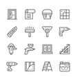 Set line icons of repair vector image vector image