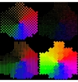 Set of Abstract rainbow colorful background vector image vector image