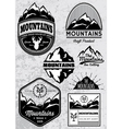 set of templates for emblems with mountains vector image vector image