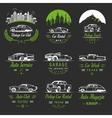 Set of Vintage Car Badges and Sign vector image