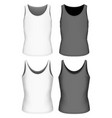 singlet for boys and girls vector image vector image