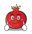 smile pomegranate cartoon character style vector image vector image