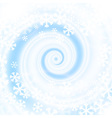 snow blizzard swirl vector image