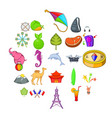 spot icons set cartoon style vector image vector image