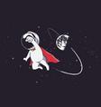 super astronaut vector image