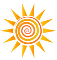 swirly sun abstract vector image vector image