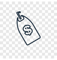 tag concept linear icon isolated on transparent vector image