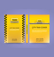 taxi business card traffic cover a4 size paper vector image vector image