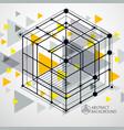 technical blueprint yellow digital background vector image