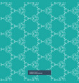 turquoise color floral pattern background vector image vector image
