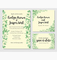 wedding eucalyptus horizontal design banner vector image