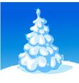 white christmas tree - vector image