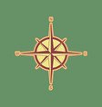 wind rose sign cordovan icon and mellow vector image vector image