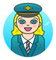 woman airline pilot vector image