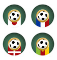 World Cup Group E vector image vector image