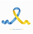 world down syndrome day symbol on white vector image